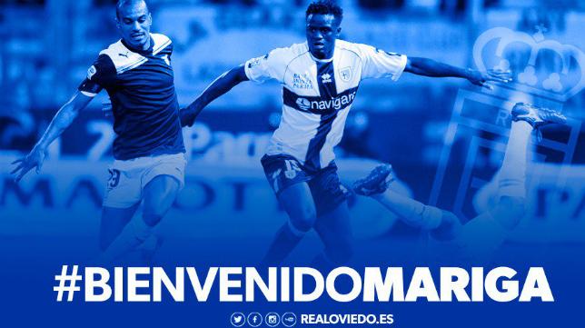 Mariga, nuevo jugador ovetense. Foto: Real Oviedo.