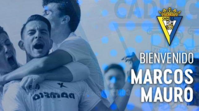 El argentino Marcos Mauro, nuevo jugador del Cádiz CF / Cádiz CF Oficial