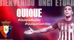El delantero Quique cambió el Almería por el Osasuna. Foto: CA Osasuna.