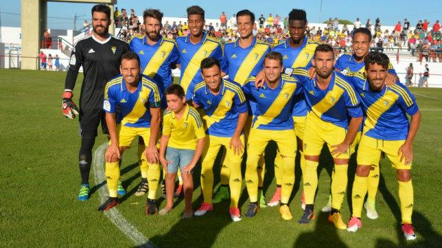 Eddy Silvestre fue de la partida ayer ante el Melilla. (Foto: Cádiz CF).