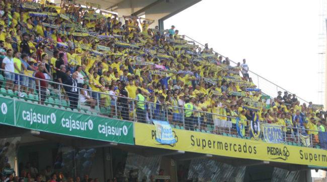 La afición del Cádiz CF en El Arcángel