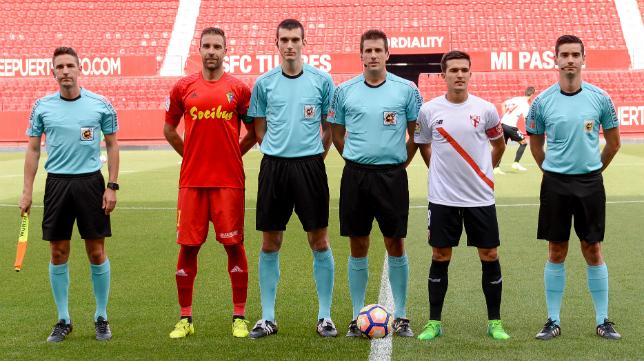 Díaz de Mera Escuderos arbitró el Sevilla Atlético-Cádiz CF en la temporada 2016/2017.