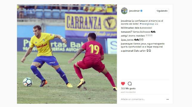 Jesús Imaz ha publicado un mensaje en su cuenta de Instagram.