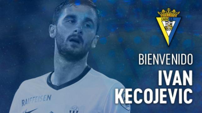 Iván Kecojevic, nuevo central del Cádiz CF. Foto: Cádiz CF.