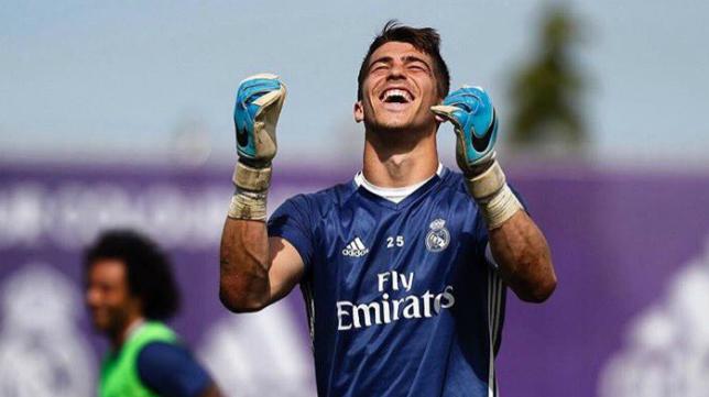 Rubén Yáñez, guardameta del Real Madrid. Foto: Twitter Oficial Rubén Yáñez.