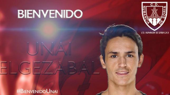 Unai Elgezabal, nuevo jugador del Numancia. Foto: CD Numancia.