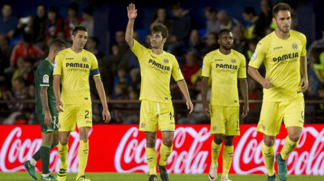 El Villarreal (sin el lesionado Bruno Soriano), presente en el Trofeo Carranza.