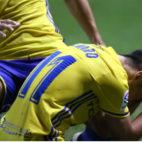 Alvarito no puede reprimir las lágrimas tras su gol al Nàstic de Tarragona.