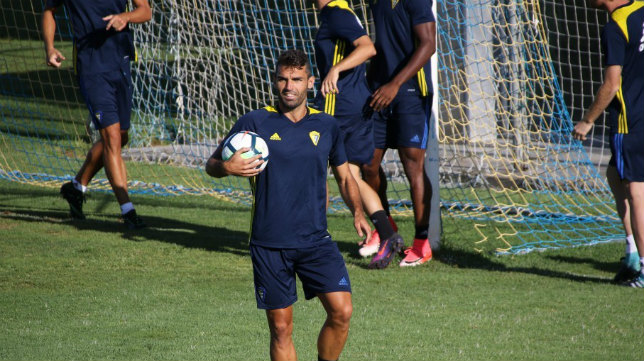Barral, en un entrenamiento. CCF