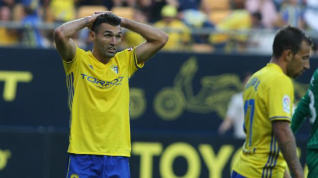 Barral, en el partido ante el Numancia.