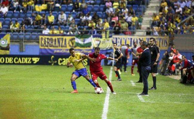 Cervera en el partido ante Osasuna