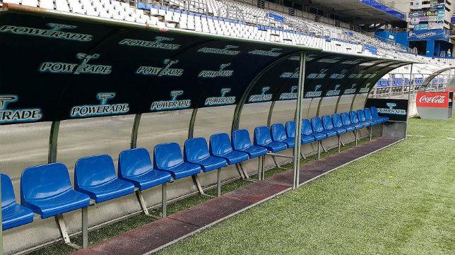 Banquillo visitante del Nuevo Estadio Carlos Tartiere.