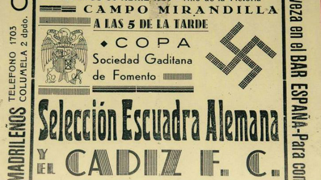 Extracto del cartel anunciador de aquel partido.