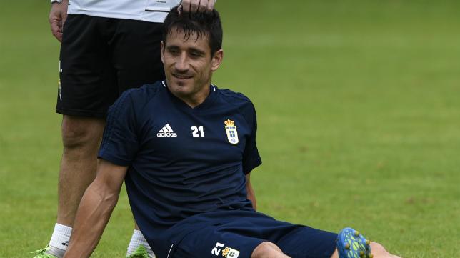 Saúl Berjón, en un entrenamiento, estará en Cádiz.