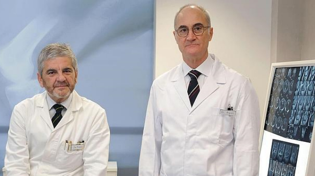 Los doctores Pedro Ripoll y Mariano de Prado.