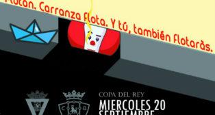 Detalle del cartel del Cádiz CF - Osasuna