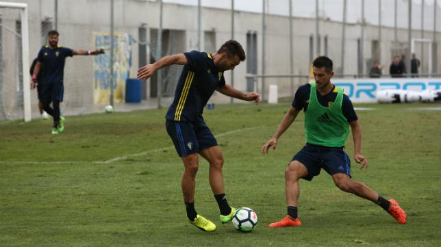 Marcos Mauro durante un entrenamiento