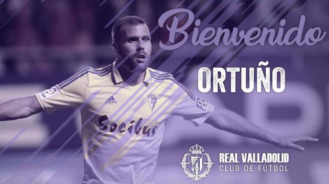 Ortuño ha sido anunciado como nuevo jugador del Real Valladolid.