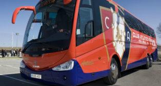 Osasuna recorrerá muchos kilómetros, algunos de ellos en autobús. Foto: CA Osasuna.