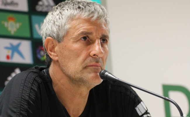 Quique Setién, en rueda de prensa. / RBB