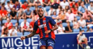 Akapo, lateral del Huesca. Foto: Sport Huesca.