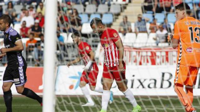 La falta de gol, uno de los males del Almería.