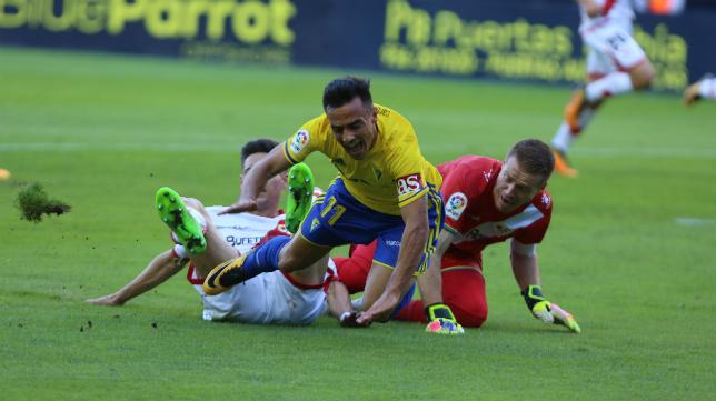 Alvarito no pudo marcar ante el Rayo Vallecano en la primera vuelta de la competición.