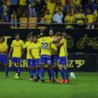 El Cádiz CF celebra el gol del empate ante el Betis