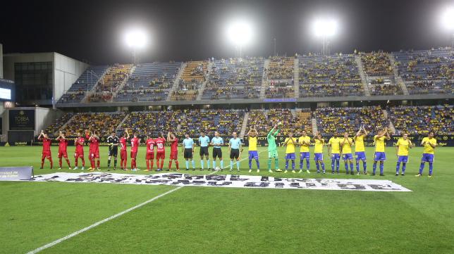 Imagen de Carranza durante el Cádiz vs Osasuna