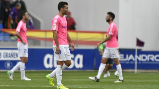 José Mari durante el partido ante el Huesca