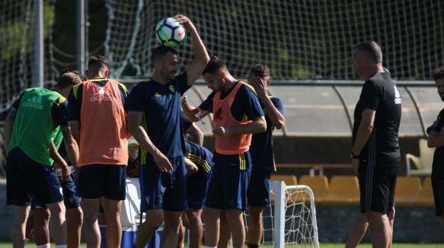 Barral, en un entrenamiento.