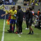 Garrido sintió molestias en el partido ante el Betis.