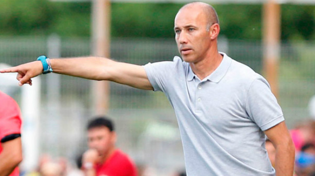 Antonio Calderón en su etapa como entrenador del Fuenlabrada.