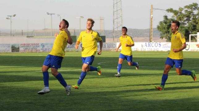 El Cádiz CF empató en Arcos (1-1). Foto: Arcos CF.