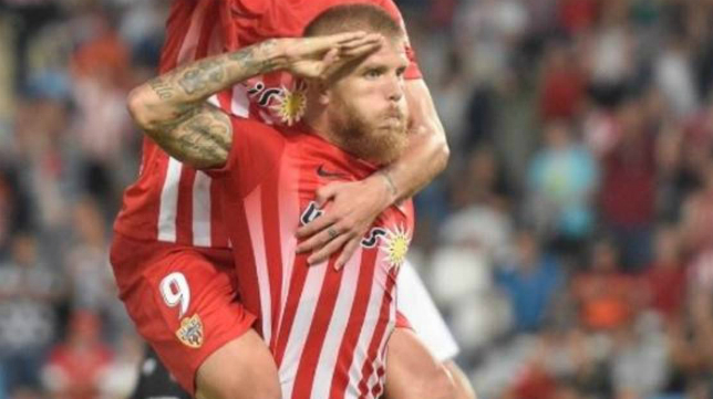 Morcillo es duda en las filas del Almería para jugar ante el Cádiz CF.