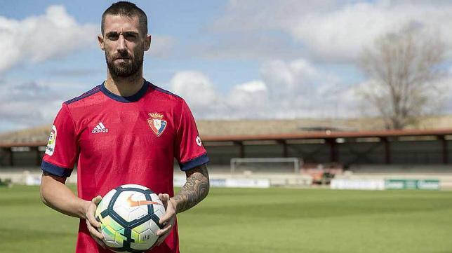 Lillo, jugador del Osasuna.