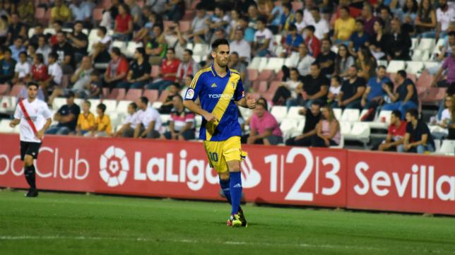 Rubén Cruz, ante el Sevilla Atlético.
