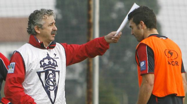 Manolo Preciado y David Barral, en Mareo.
