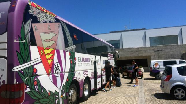 El autobús del Real Valladolid.