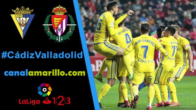 El Cádiz CF quiere prolongar su racha ante el Valladolid