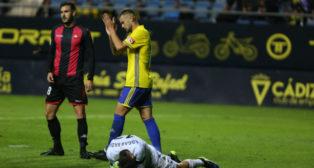 Carrillo marcó el gol de la victoria del Cádiz CF ante el Reus.