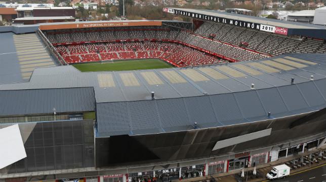 Panorámica del Estadio El Molinón.