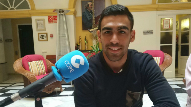 Dani Romera, atacante del Cádiz CF, en 'Deportes Cope Cádiz'.