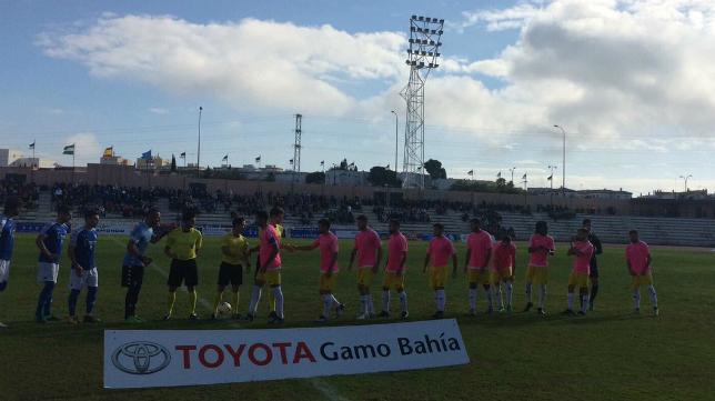 El Cádiz CF ha cedido indumentarias al Melilla para jugar en San Fernando este domingo. Foto: UD Melilla.