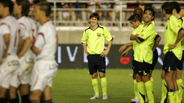Leo Messi, en aquel Trofeo Carranza en el que pudo ligar su destino al Cádiz CF.