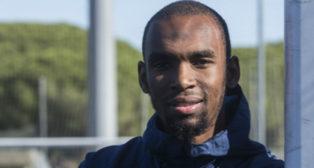 Rafidine Abdullah, centrocampista del Cádiz CF.