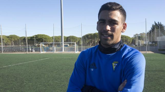 Dani Romera, delantero del Cádiz CF.