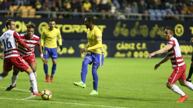 Abdullah demostró su talento en el Cádiz CF-Granada.