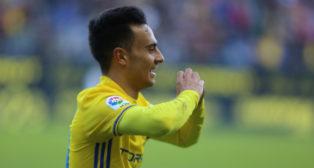 Álvaro García celebra un gol.