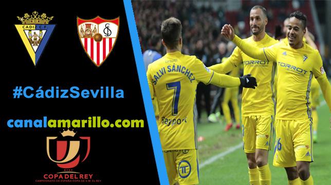 El Cádiz CF quiere dar la sorpresa ante el Sevilla FC en Copa del Rey